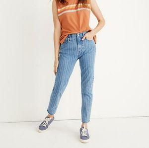 NWT Madewell 29 Pinstripe The Vintage Crop Jean